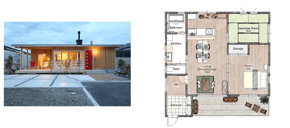 20坪前後】ローコストな平屋の実例と間取り | ローコスト住宅の窓口